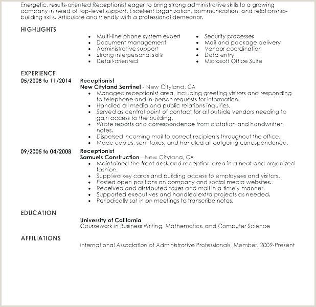 receptionist resume objective – emelcotest