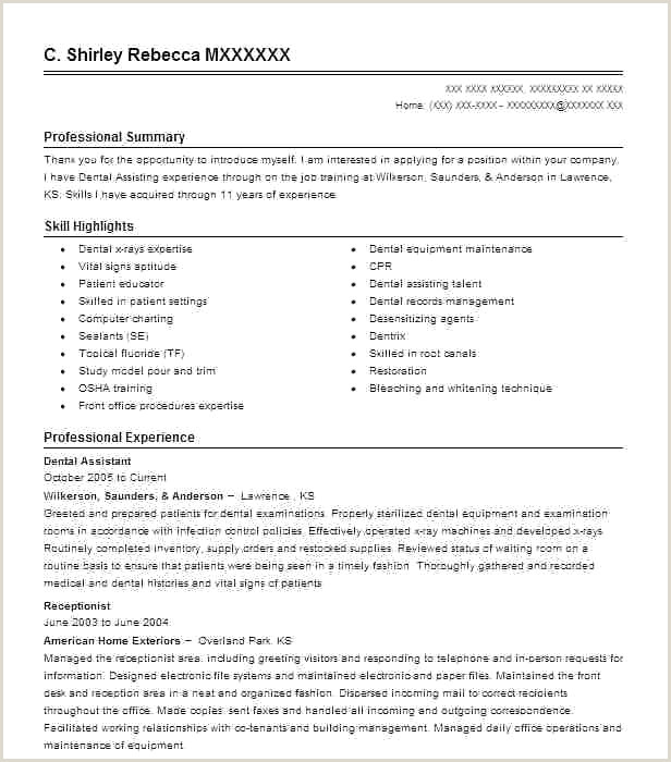 New Dental Receptionist Resume Objective Statement Resume