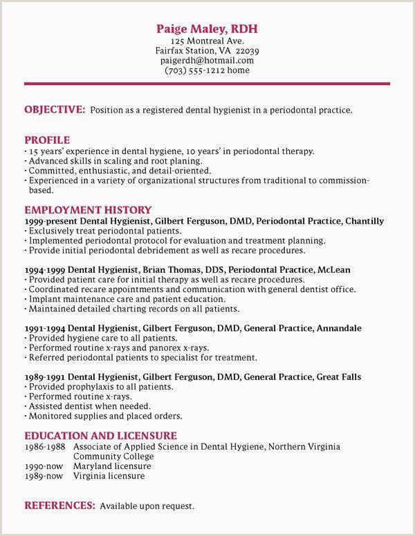 Dental Hygienist Resume Examples Resume Examples 0d Skills