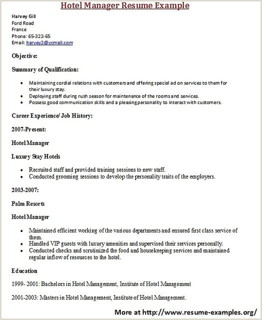 Department Manager Resume Examples Pin On W