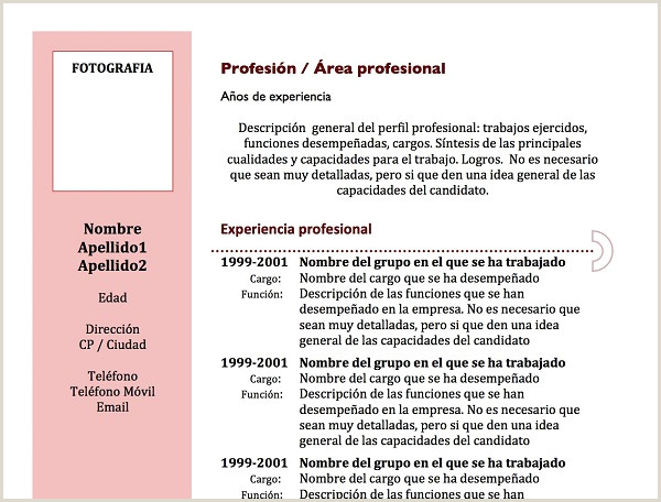 By Congress Descargar Plantilla Curriculum Vitae
