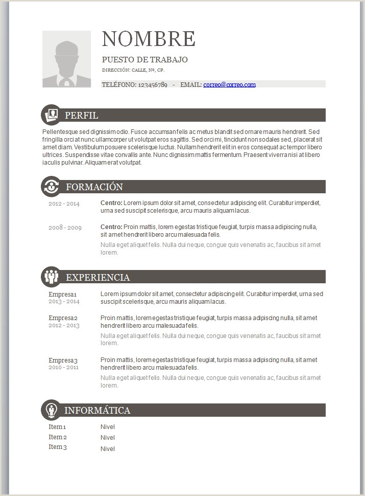 Descargar Curriculum Vitae Para Rellenar Basico Modelo Curriculum Vitae Basico Para Rellenar Ftithcm
