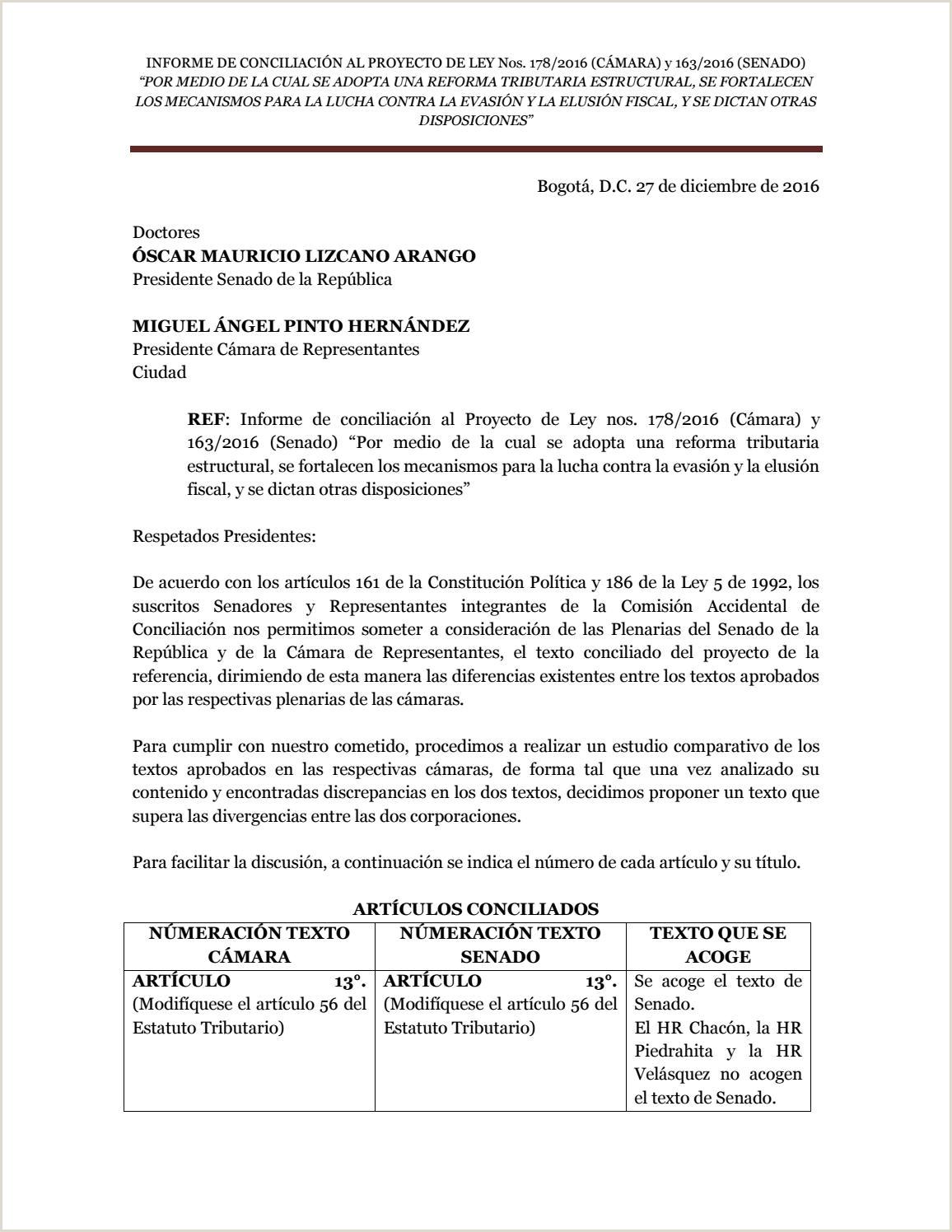 Informe conciliaci³n by Claudia L³pez Senado 10 Alianza