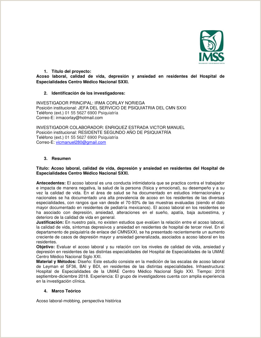 PDF Acoso laboral calidad de vida depresi³n y ansiedad en