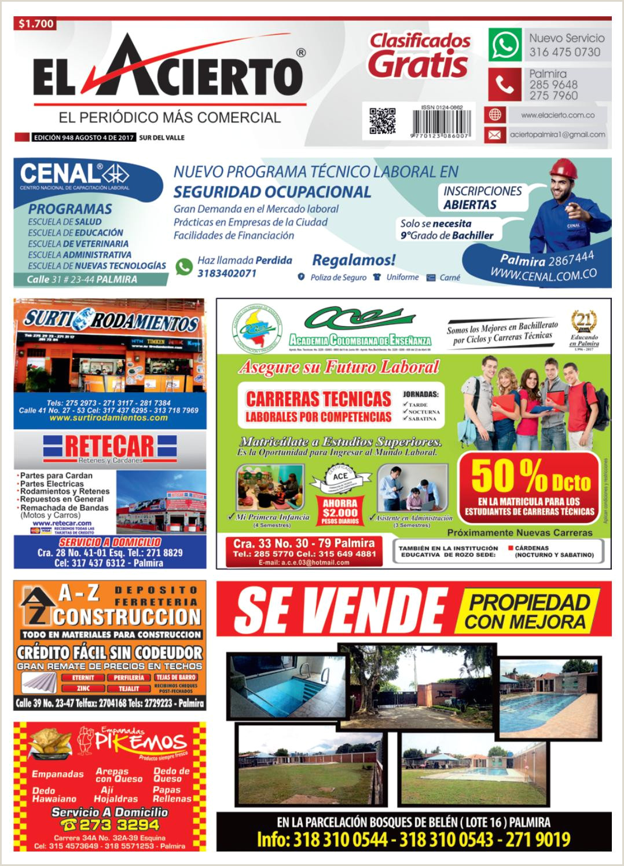 Descargar Hoja De Vida 1003 Palmira 948 4 De Agosto 2017 by El Acierto issuu