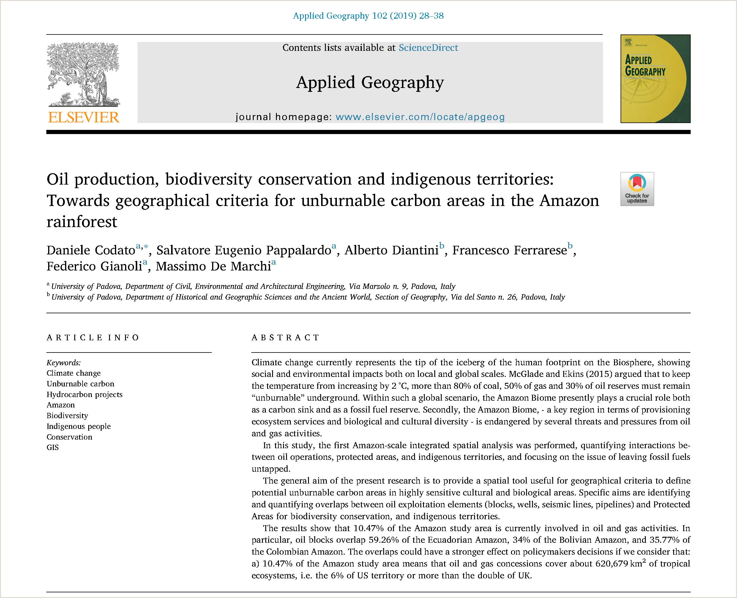 """Unburnable carbon e petrolio """"non estraibile"""" in Amazzonia"""