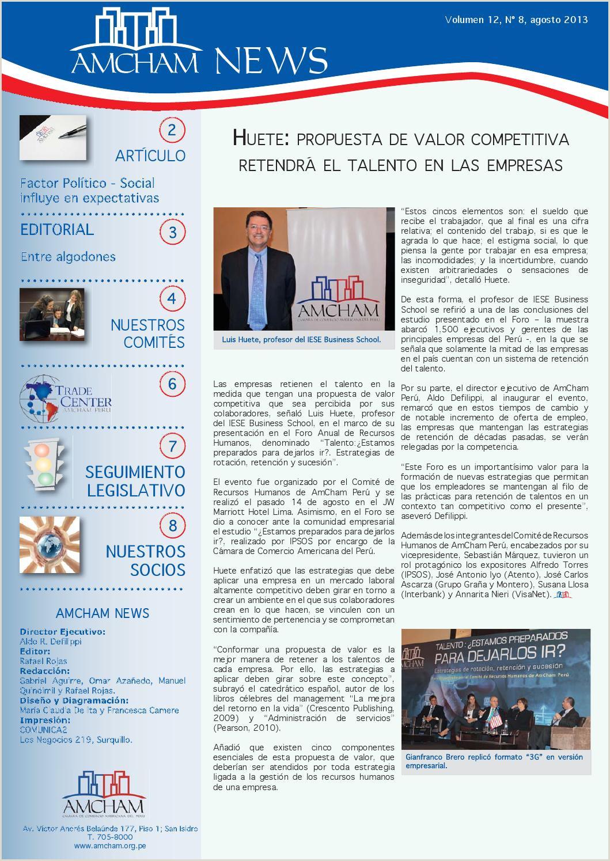 AmCham News Agosto 2013 by AmCham Perº issuu