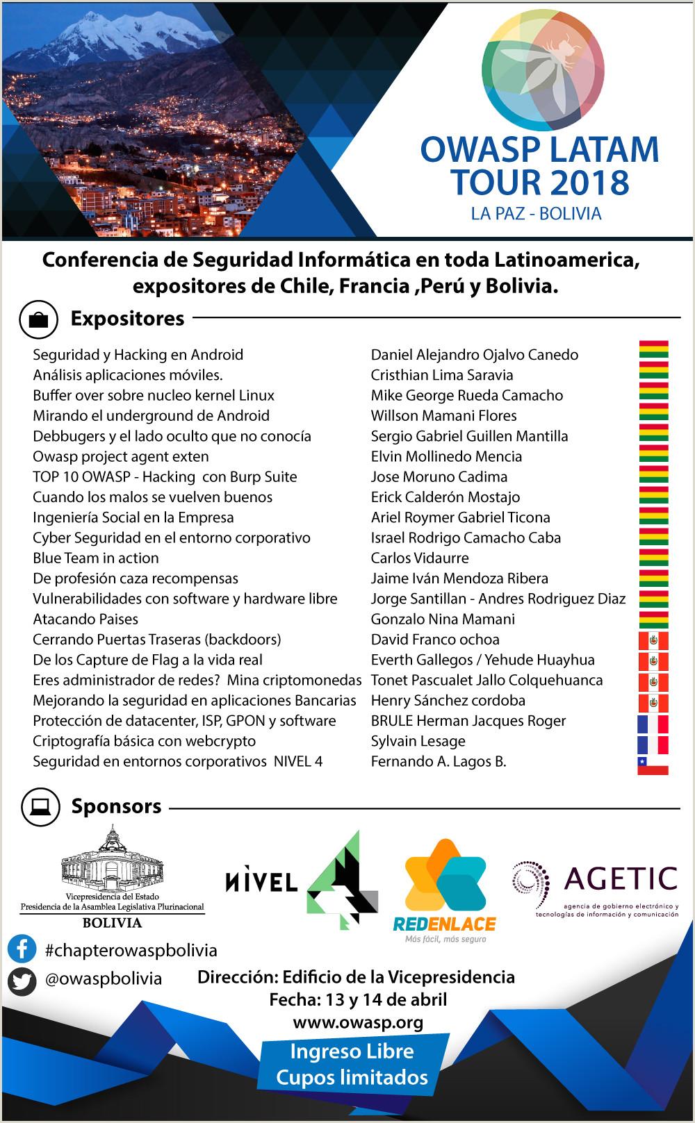 Descargar Hoja De Vida Colombia 2018 Latamtour2018 Owasp