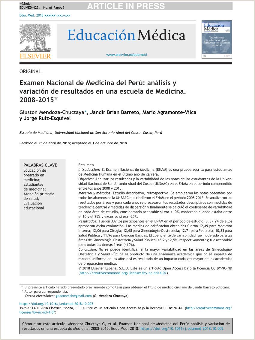 Descargar Hoja De Vida Colombia 2018 Pdf Examen Nacional De Medicina Del Perº Análisis Y