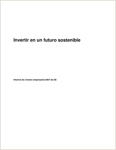 The 2007 GE Citizenship Report in Spanish General Electric