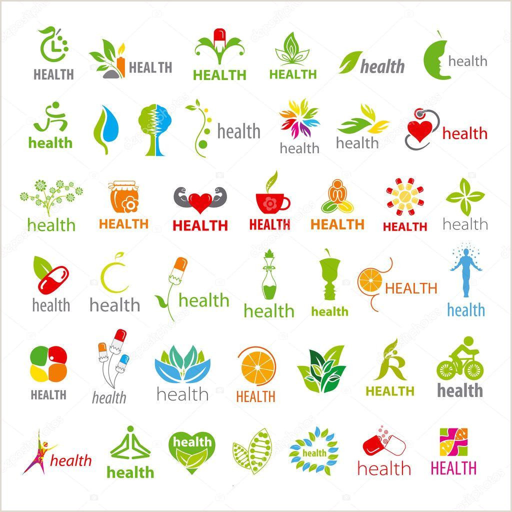 Colecci³n más grande de la salud de logos vectoriales