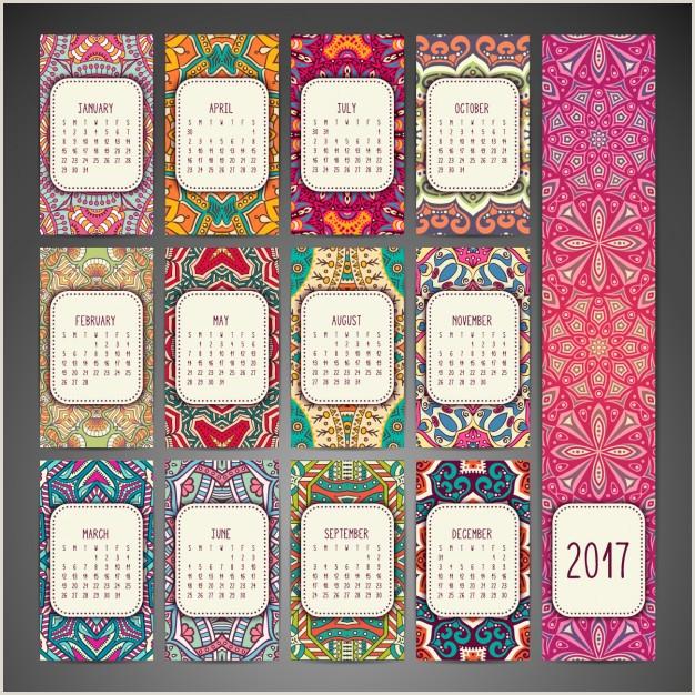 Descargar Hoja De Vida Creativa Dise±o De Calendario De Estilo Boho