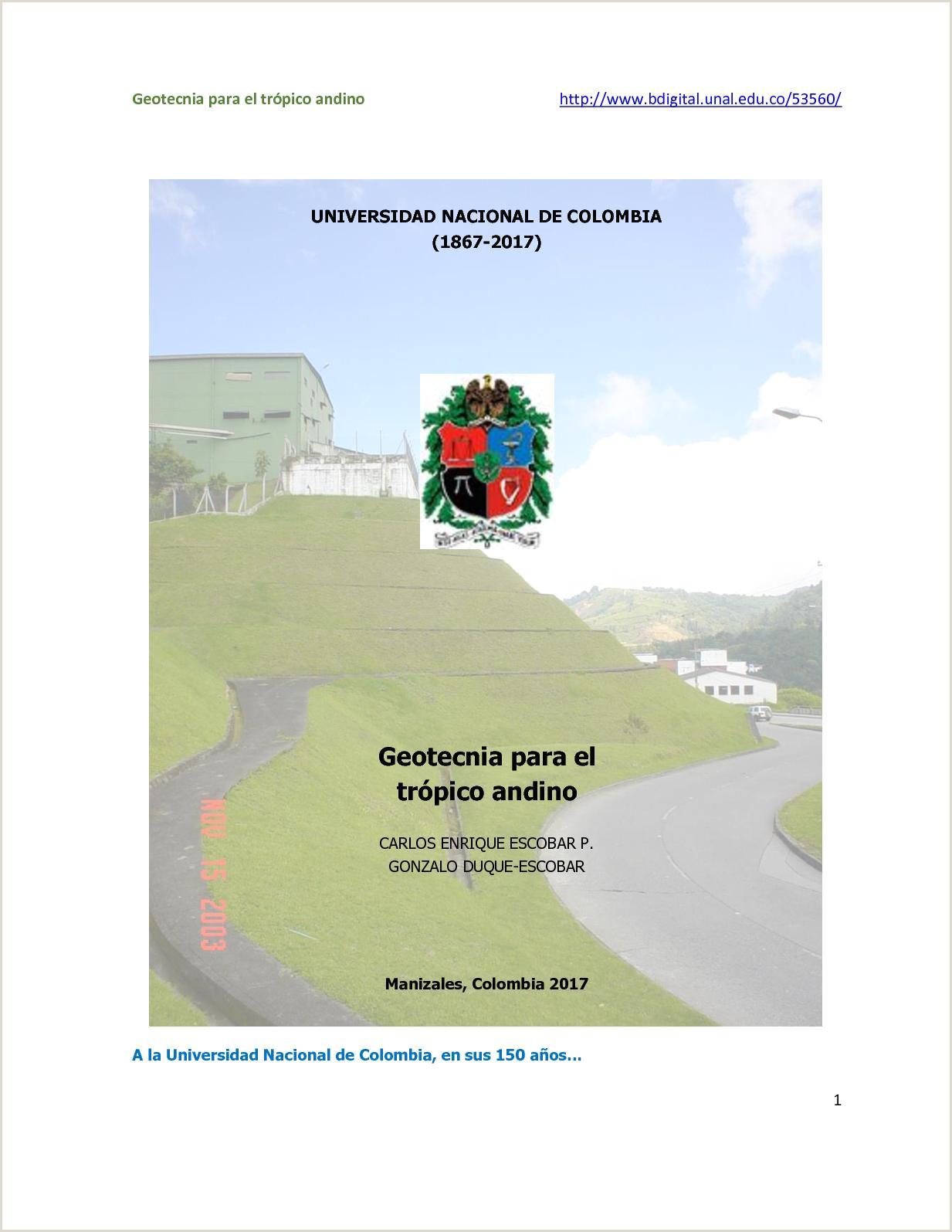 Calaméo Geotecnia para el tr³pico andino U N