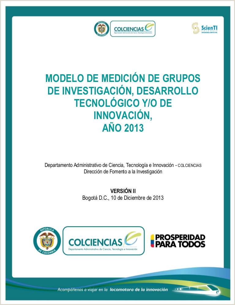 Descargar Hoja De Vida Cvlac Documento Modelo De Medici³n Grupos 2013 Versi³n Ii