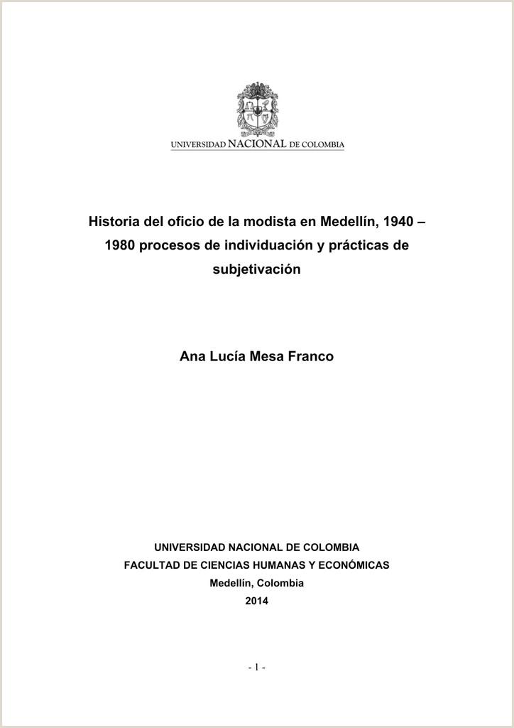 Historia del oficio de la modista en Medelln 1940