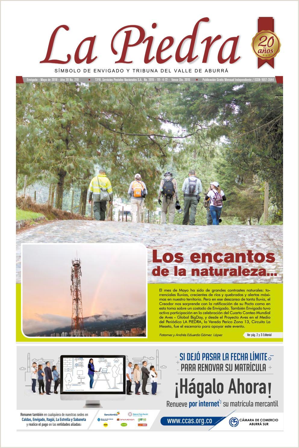 Descargar Hoja De Vida De Comfama La Piedra Ed 210 Mayo 2018 by Peri³dico La Piedra issuu