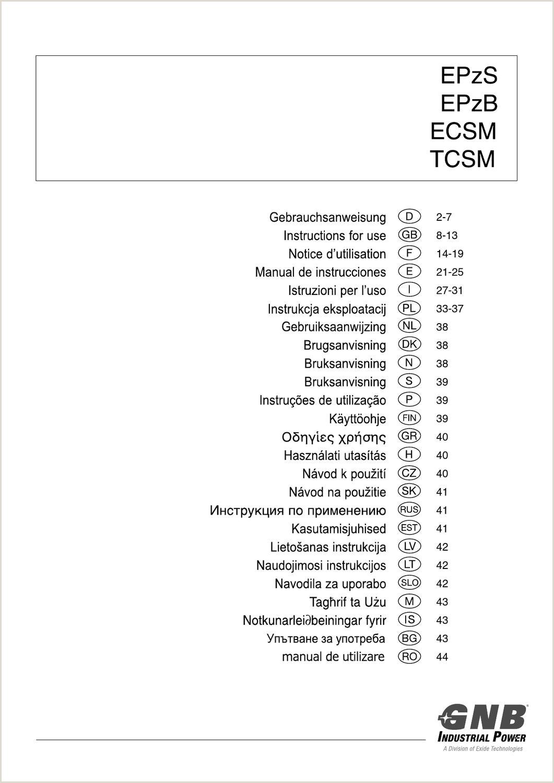 EPzS EPzB ECSM TCSM Multilingual by GNB Industrial