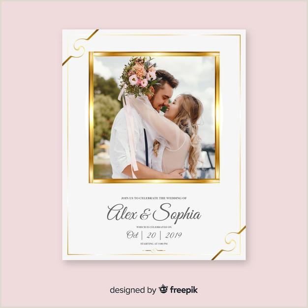 Preciosa tarjeta de invitaci³n para bodas plantilla con