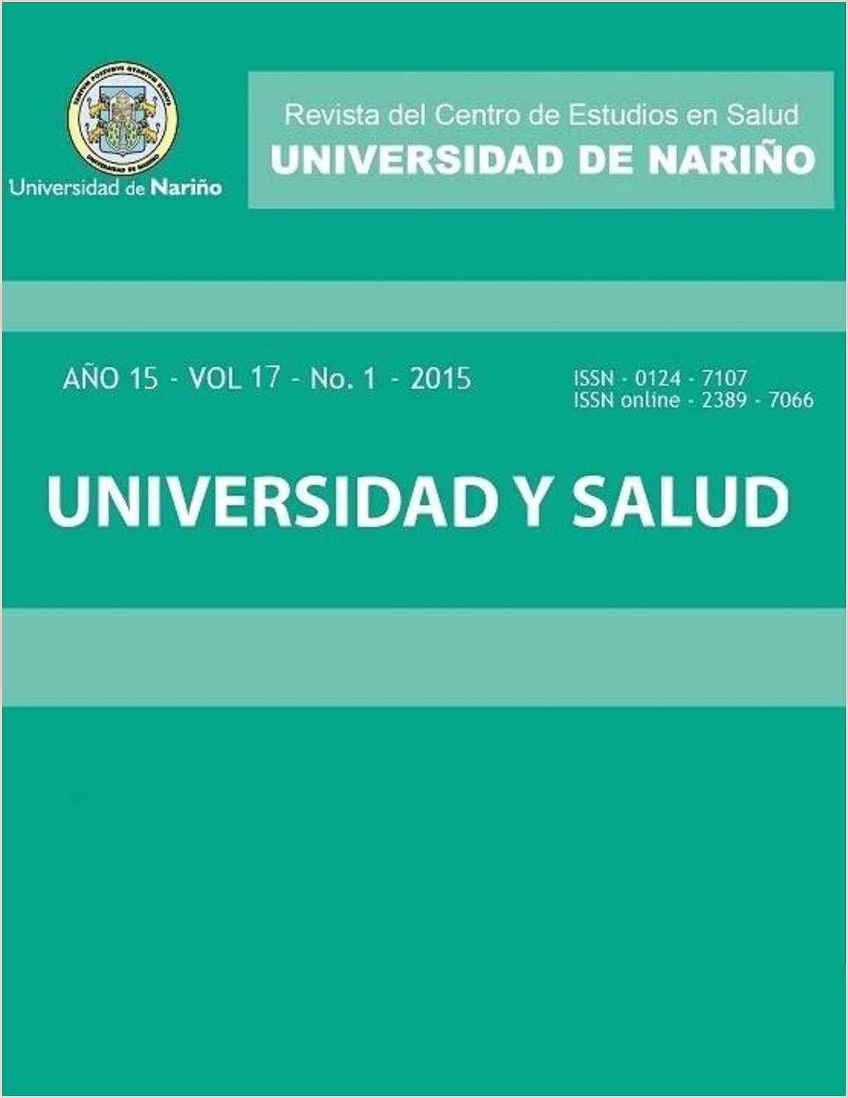Descargar Hoja De Vida Editable 1003 Calaméo Revista Universidad Y Salud Vol 17 No 1 2015