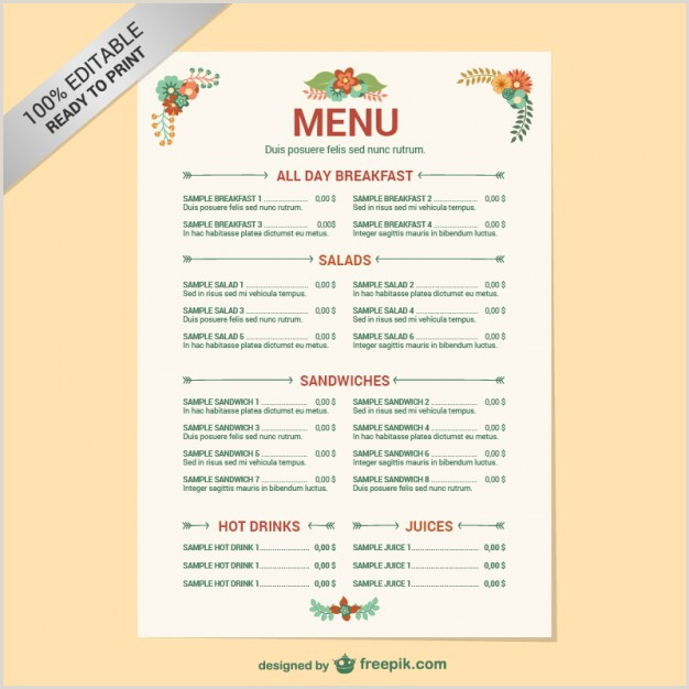 Descargar Hoja De Vida Editable Plantilla Editable De Carta De Restaurante