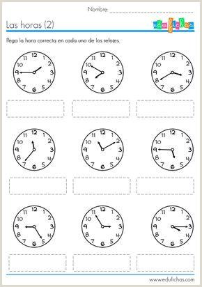 Descargar Hoja De Vida En Blanco Para Llenar Hojas De Trabajo Para Descargar Con Actividades Del Reloj
