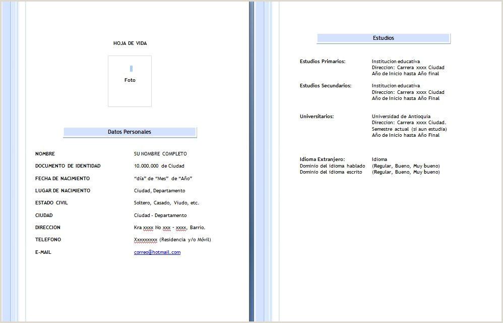 Descargar Hoja De Vida En formato Word formato Hoja De Vida 2015 Mundonets Hoja De Vida