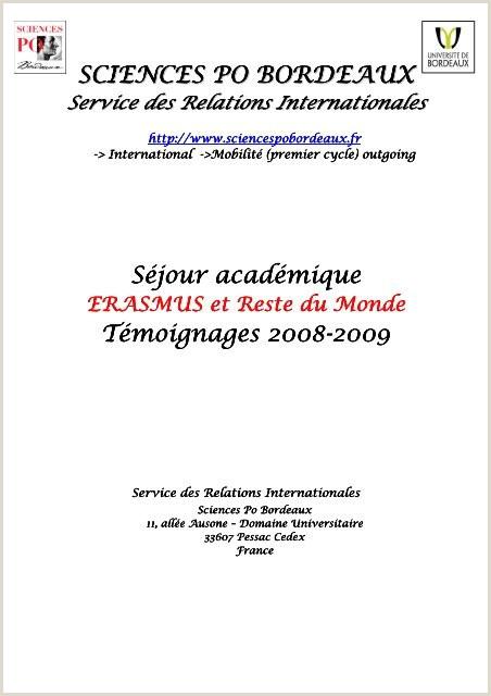Descargar Hoja De Vida En Ingles Sciences Po Bordeaux Séjour Académ Ique Séjour Académ