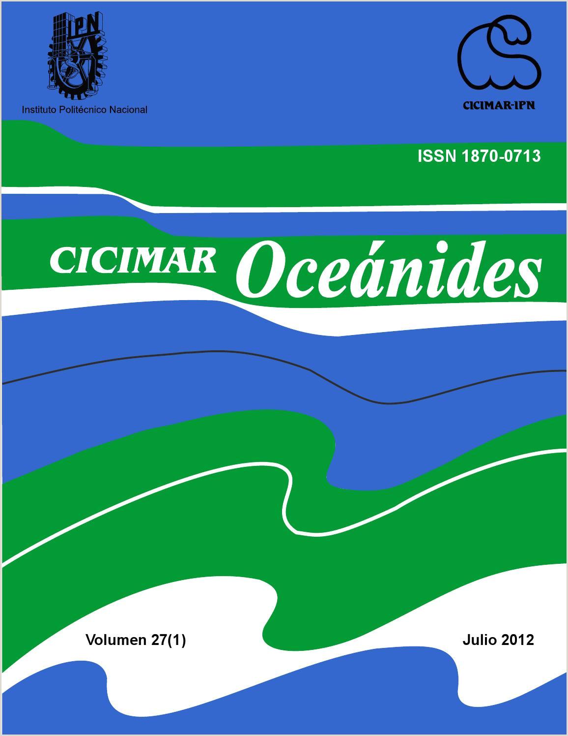 CICIMAR Oceánides Vol 27 1 2012 by CICIMAR Oceánides issuu
