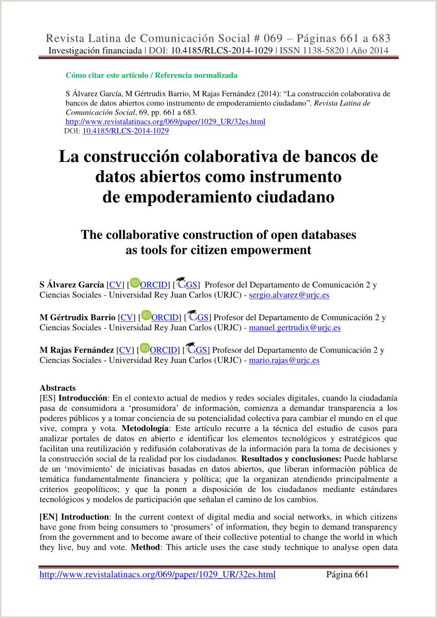 PDF La construcci³n colaborativa de bancos de datos
