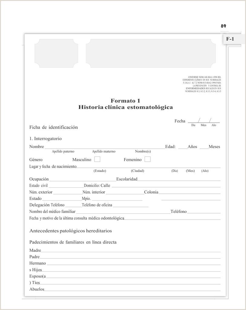Descargar formatos de historia clinica dental