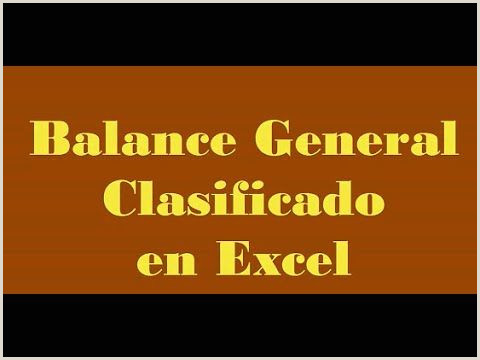 532 Balance General en Excel Estados Financieros