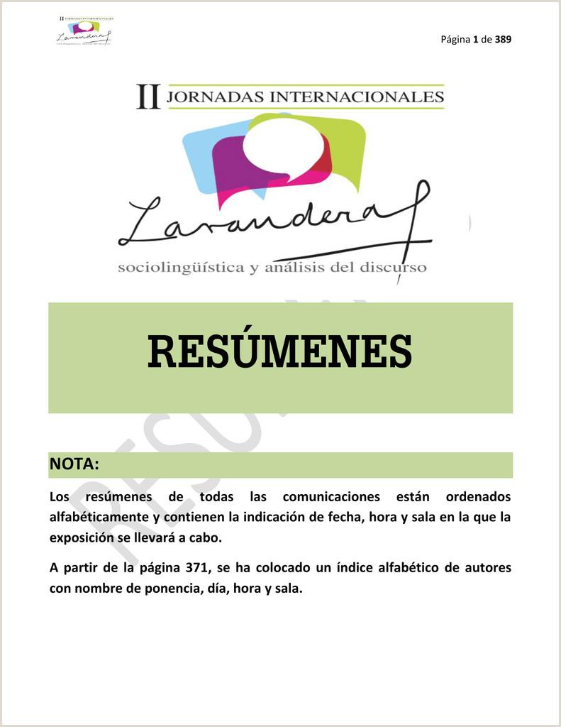 Descargar Hoja De Vida Minerva 1003 Gratis Pdf Libro De Resºmenes Ii Jornadas Internacionales Beatriz