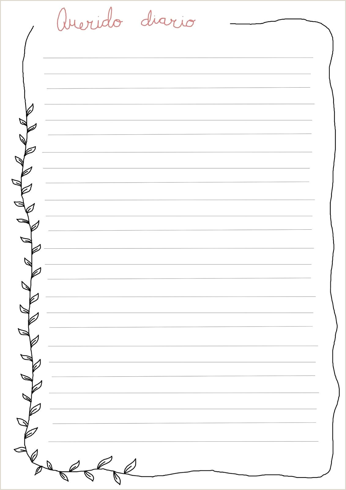 Diario personal para descargar gratis Imprimibles gratis