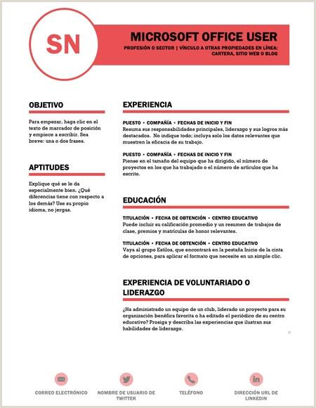 Curriculum Vitae Curriculum Vitae Plantilla Curriculum