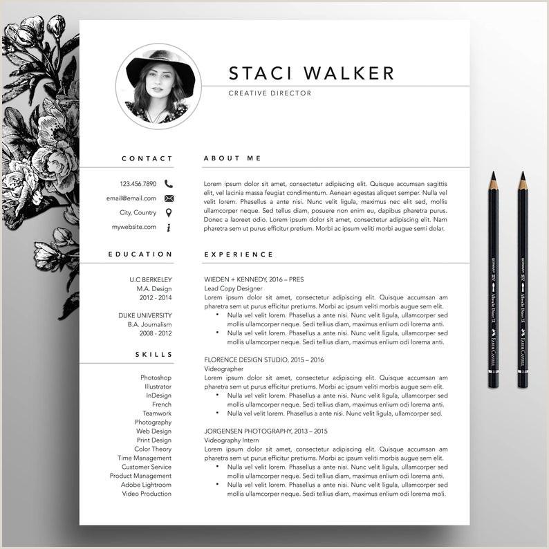 Moderno reanudar 3pk de plantilla plantilla de CV carta de referencias plantillas curriculum vitae creativo currculum profesional Staci