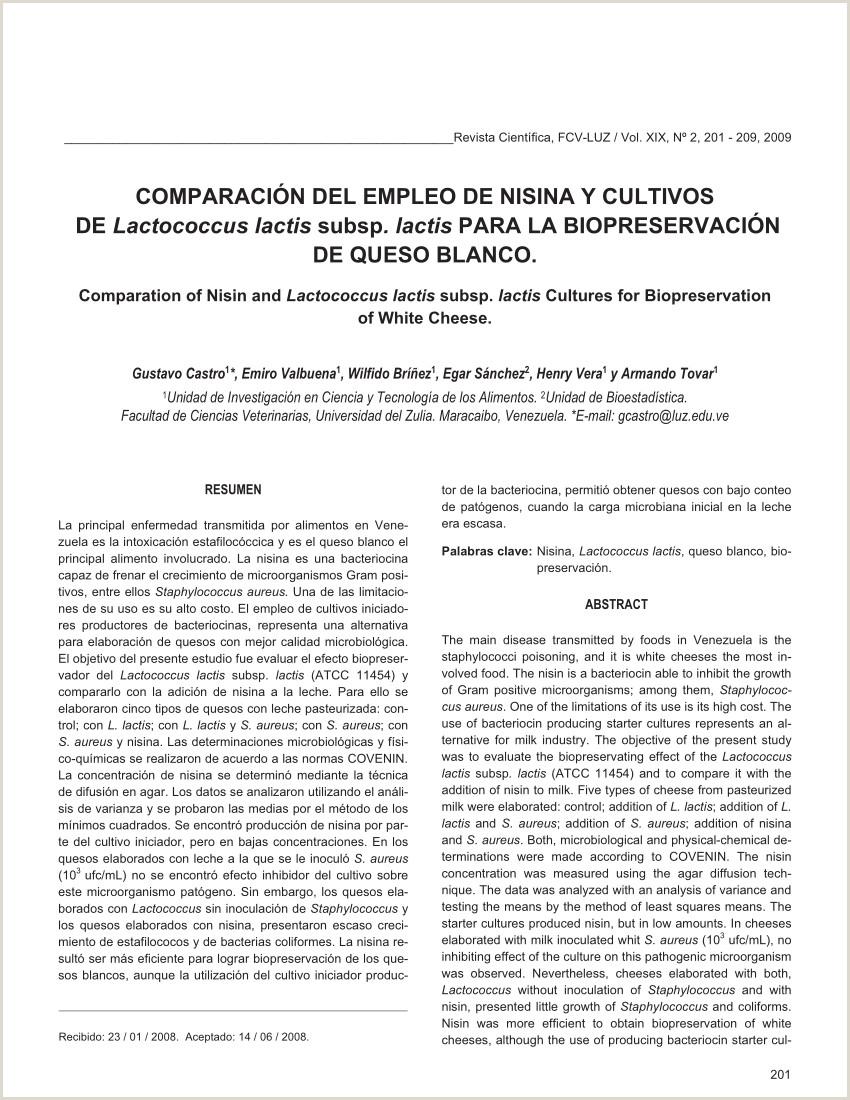 PDF paraci³n del empleo de nisina y cultivos de