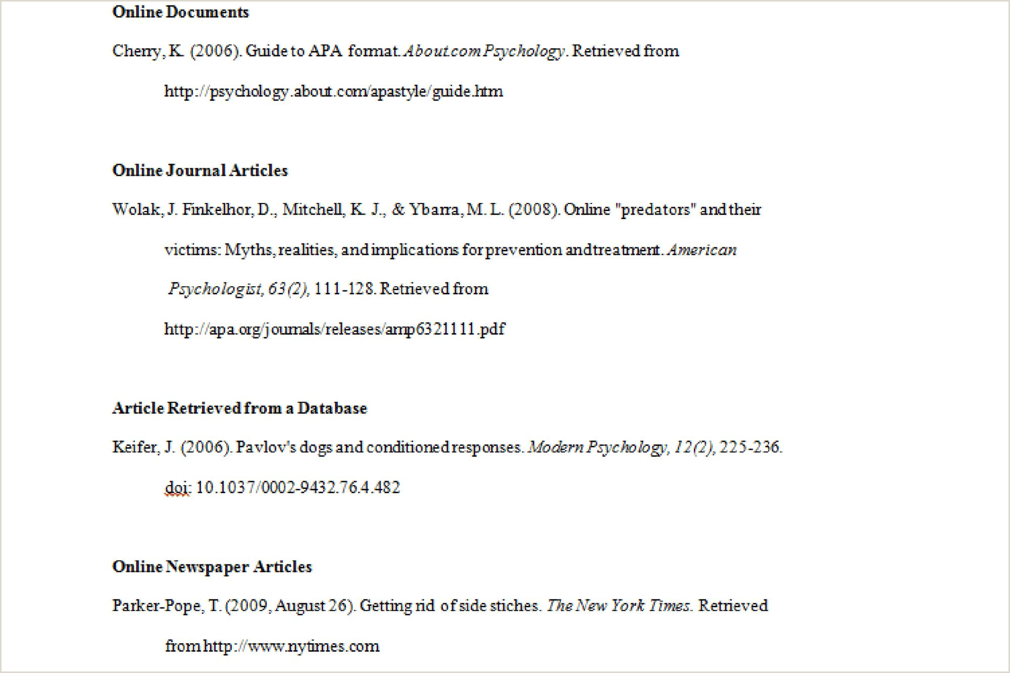 APA Format Examples Tips and Guidelines