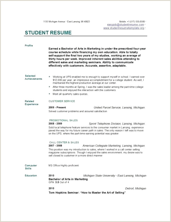 Stunning High School Academic Resume Resume Design