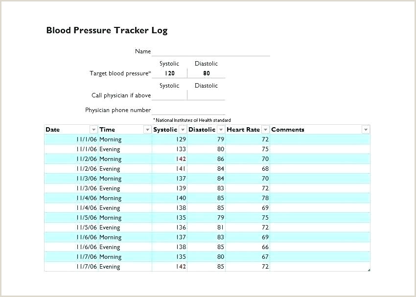 diabetes test log template