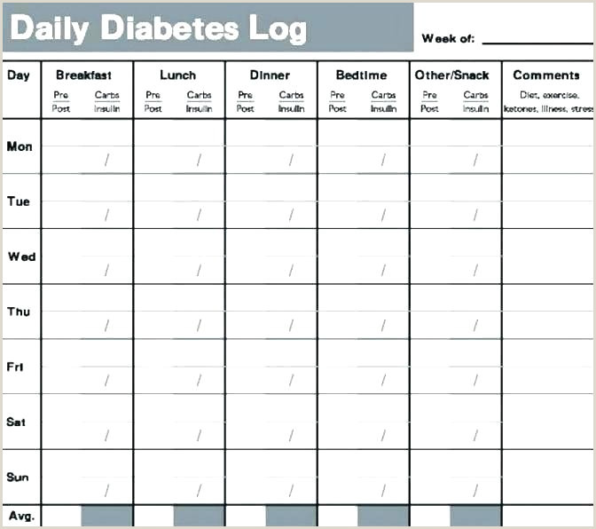 Diabetes Log Sheet Diabetes Test Log Template