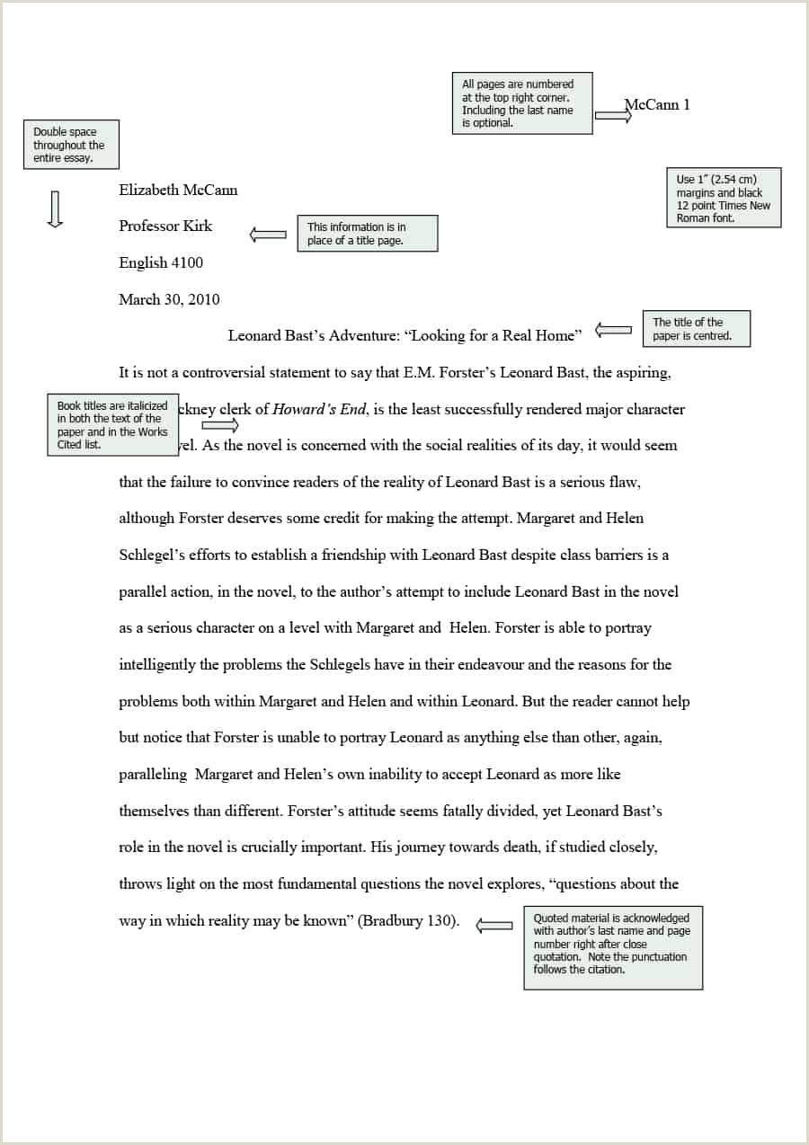 Mla Format No Title Page • Blackbackpub