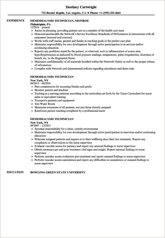Dialysis Nurse Job Description Resume Nurse Tech Resume Samples Velvet Jobs Technician Job