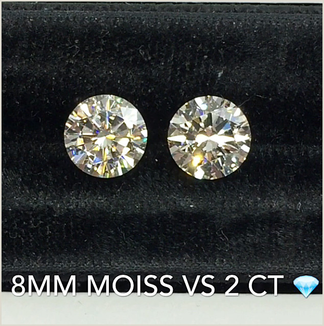 Diamond Carat Size Chart On Hand Moissanite Vs Diamond