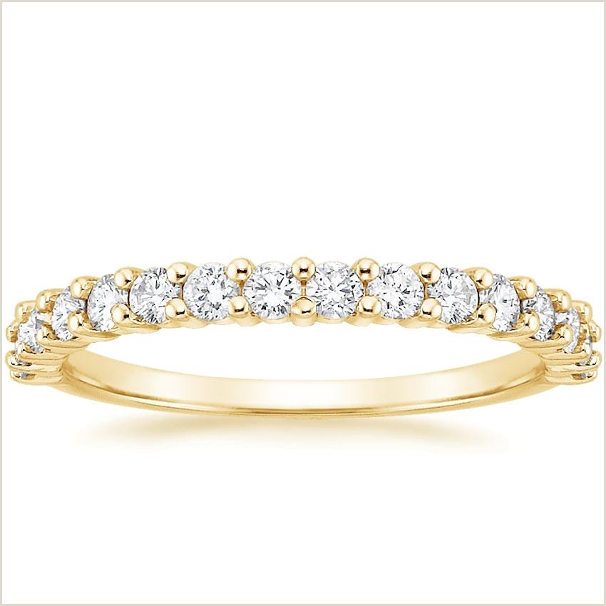 18K Yellow Gold d Prong Diamond Ring 1 2 ct tw