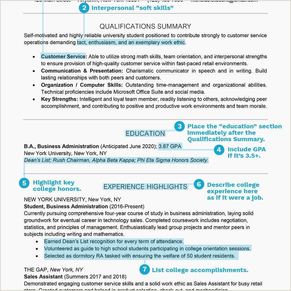 Student Resume Examples and Templates