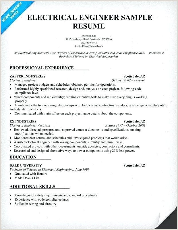 Diploma Fresher Resume format Pdf Best Resume for Electrical Engineer – Emelcotest