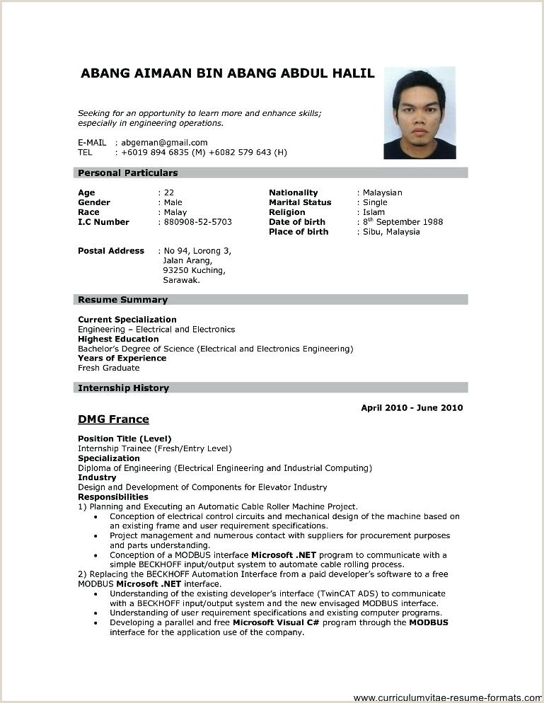 Diploma Fresher Resume Format Pdf Download Engineer Fresher Resume Template Different Style Simple Cv