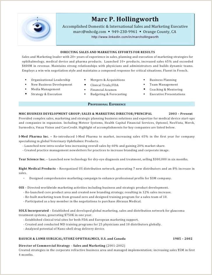 Cv mercial Gratuit Director Sales Resume Sample Best