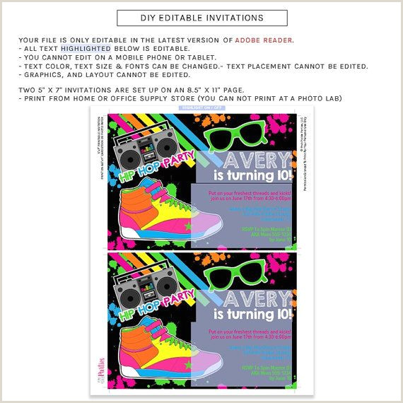 Disco Party Invitation Wording Hip Hop Invitation Hip Hop Party Dance Invitation Dance
