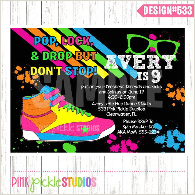 Hip Hop Invitation Hip Hop Party Dance Invitation Dance